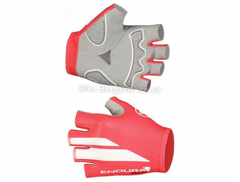 Endura FS260 Pro Print Mitts 2017 S, Red, White, Mitts, Gel, Synthetic Leather