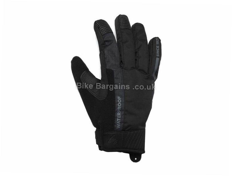 FWE Ladies Coldharbour Waterproof Full Finger Gloves L, Black, Full Finger, Fleece, Gel