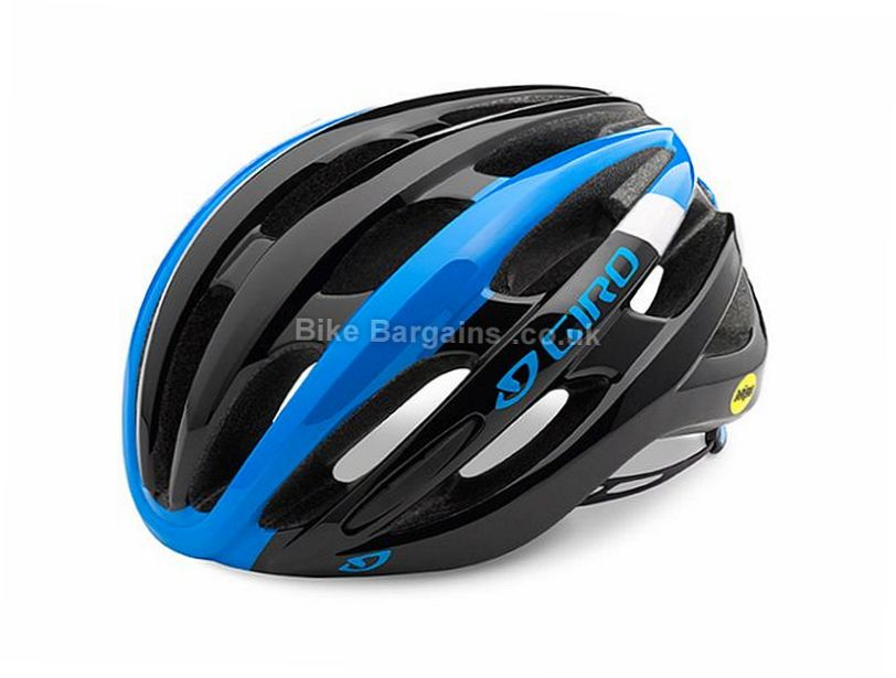Giro Foray MIPS Road Helmet 2016 S, Grey, Blue, Black, 21 vents
