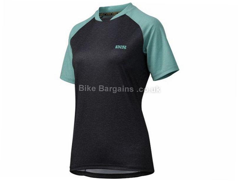 IXS Ladies Progressive 7.1 Short Sleeve Jersey 2017 XL, Black, Turquoise, Grey