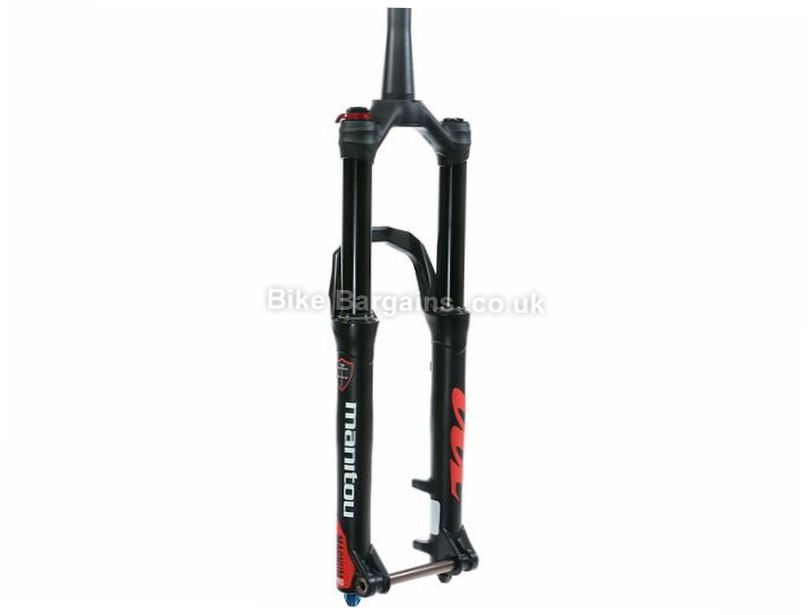 "Manitou Magnum Pro Mountain Bike Suspension Forks 100mm, 27.5"", 29"", Black, tapered"