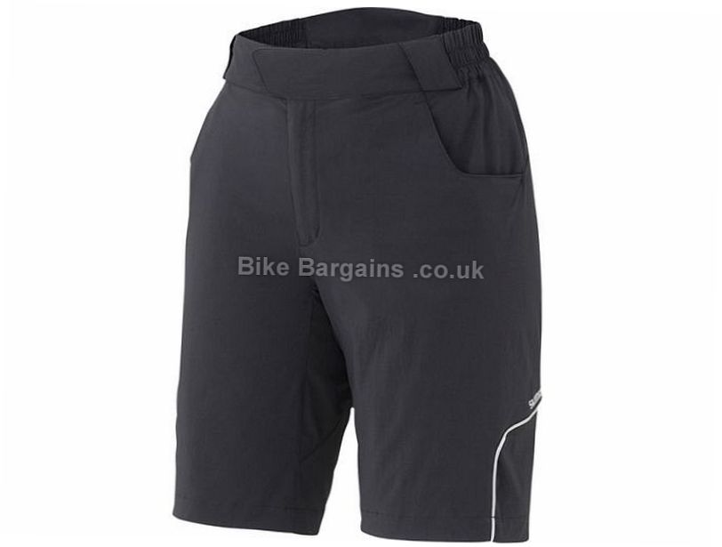 Shimano Ladies Touring Baggy Shorts XL, Black