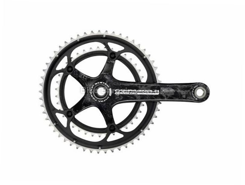 Campagnolo Centaur Carbon Ultra-Torque 10 Speed Road Chainset 170mm, Black, Carbon, 10 speed, Double Chainring, Road, 640g