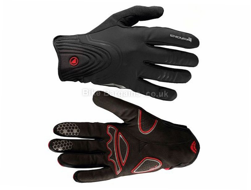 Endura Windchill Gel Full Finger Gloves 2017 XL,XXL, Blue, Full Finger, Gel, Nylon, Polyester