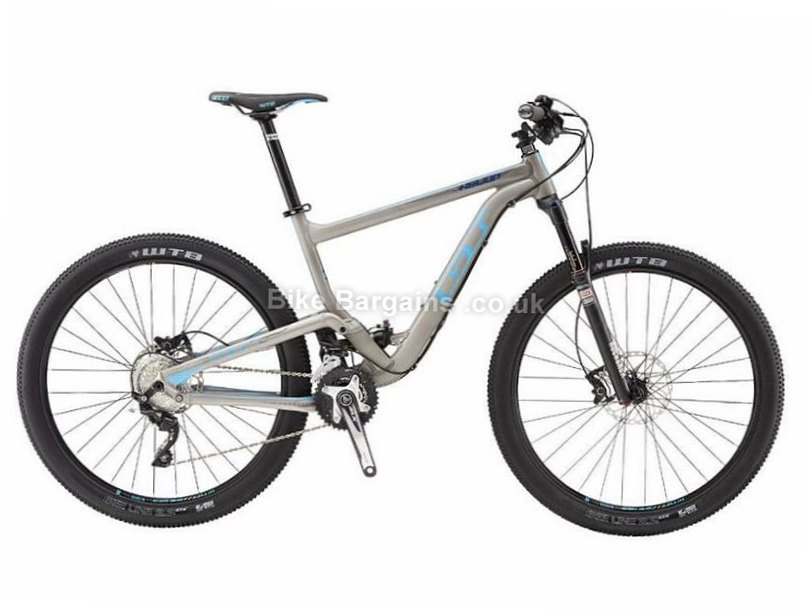 """GT Helion Expert Deore 27.5"""" Alloy Full Suspension Mountain Bike 2016 L, Grey, Alloy, 20 Speed"""