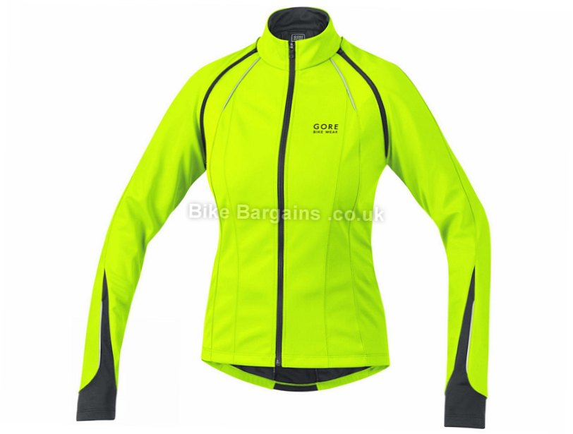Gore Bike Wear Phantom 2.0 SO Ladies Windproof Jacket XS, Yellow, Women's, Long Sleeve