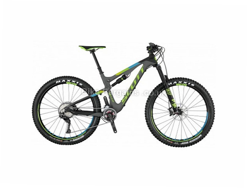 "Scott Genius 710 Plus XT 27.5"" Carbon Full Suspension Mountain Bike 2017 S,M, Grey, Green, 27.5"", 22 Speed, 13.3kg"