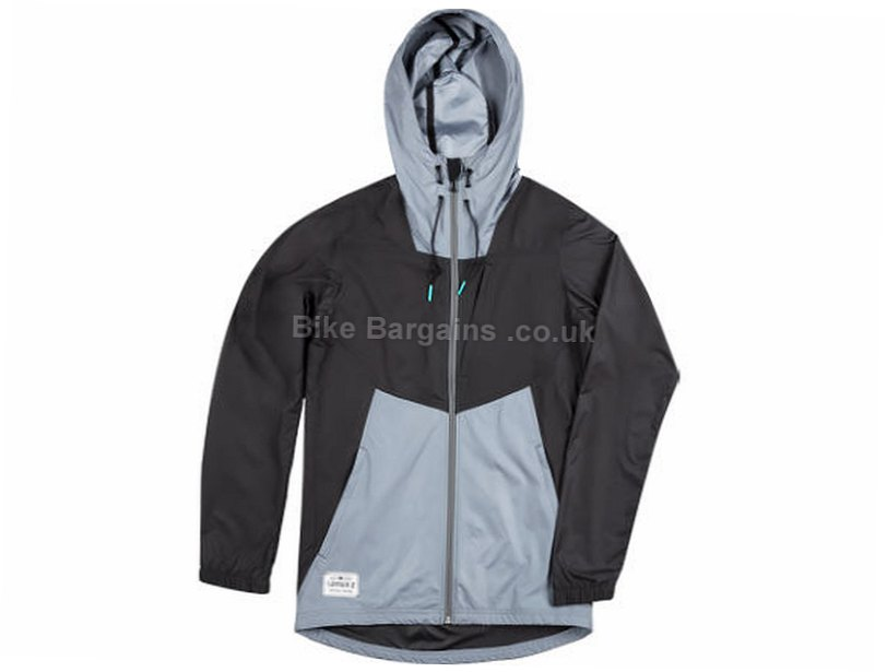 Sombrio Squall Windproof Hooded Jacket 2017 XS,XL, Black, Grey, Men's, Long Sleeve