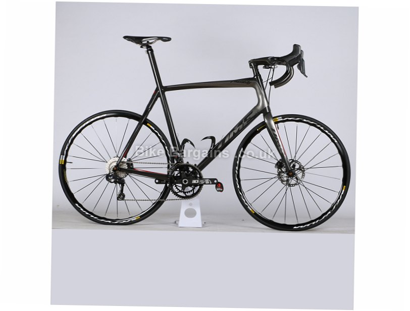 Time Fluidity TL Ultegra Di2 Carbon Disc Road Bike 2017 XL, Grey, Red, 22 Speed