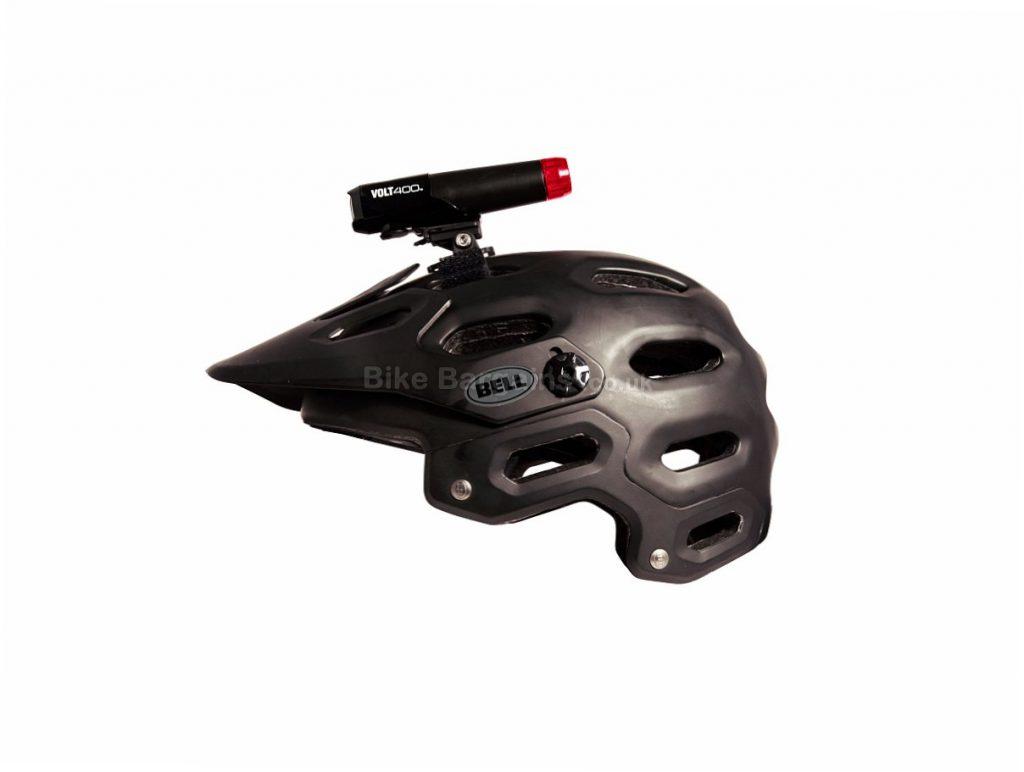 Cateye Volt 400 Duplex USB Helmet Light 400 Lumens, Black, Red, Front, Rear, 110g