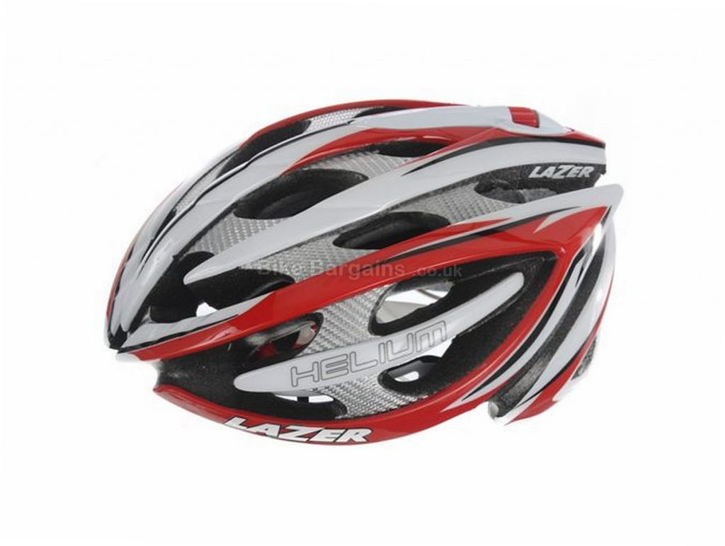 Lazer Helium Magneto Road Race Helmet 2012 XL, Red, White, 260g, 19 vents