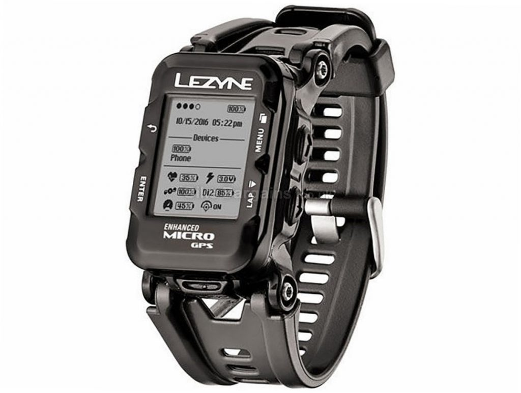Lezyne Micro GPS Mapping Watch Black, GPS, 29g - Blue is extra