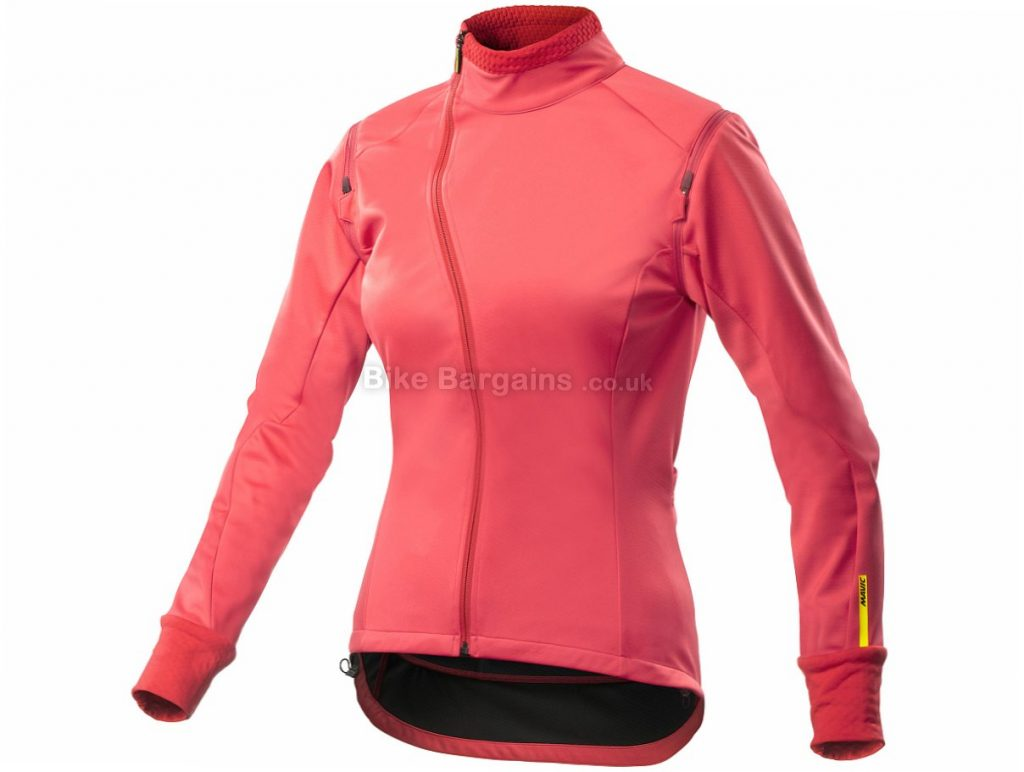 Mavic Aksium Convertible Ladies Jacket L, Pink, Women's, Long Sleeve / Sleeveless
