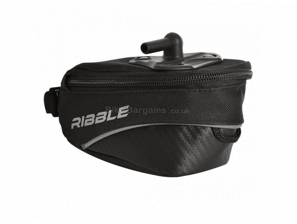Ribble Medium 1.4 litre Saddle Bag Black, 1.4 Litres