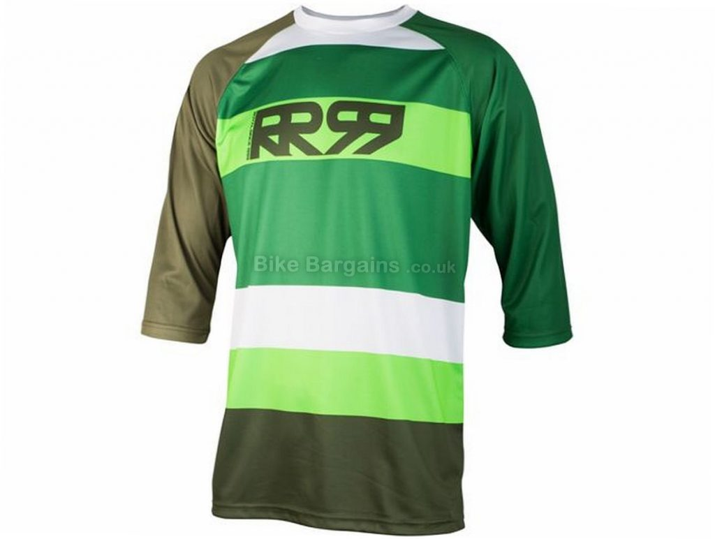 Royal Drift 3/4 Sleeve Jersey 2017 S, Blue - XS,S are extra Green
