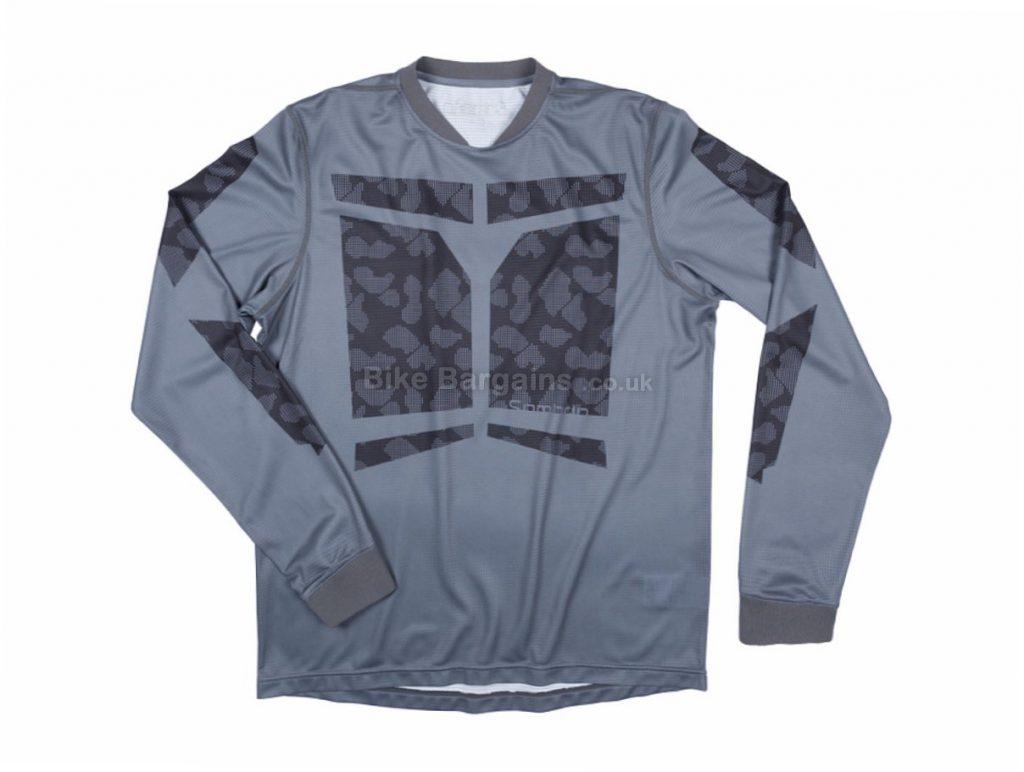 Sombrio Grappler Race MTB Long Sleeve Jersey 2016 S, Grey, Green, Blue