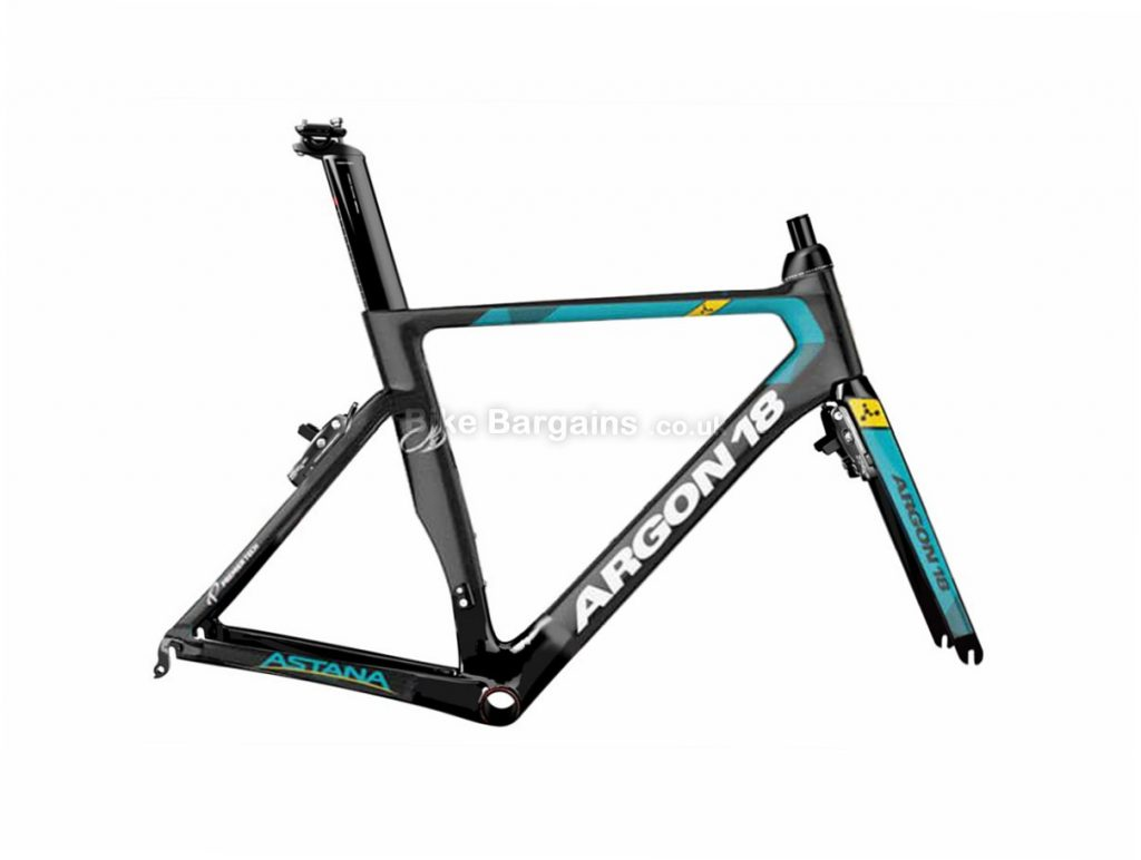 Argon 18 Nitrogen Pro Astana Team Edition Carbon Caliper Road Frameset 2017 L,XL, Black, Turquoise, Carbon, 830g, Caliper Brakes, 700c, inc Forks, Seatpost, Headset