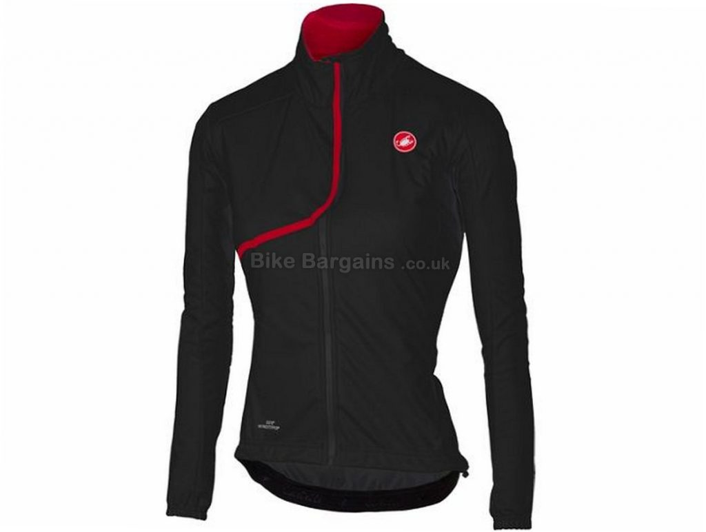 Castelli Indispensabile Jacket 2017 XS,S,M,L, Black, Red, Men's, Long Sleeve