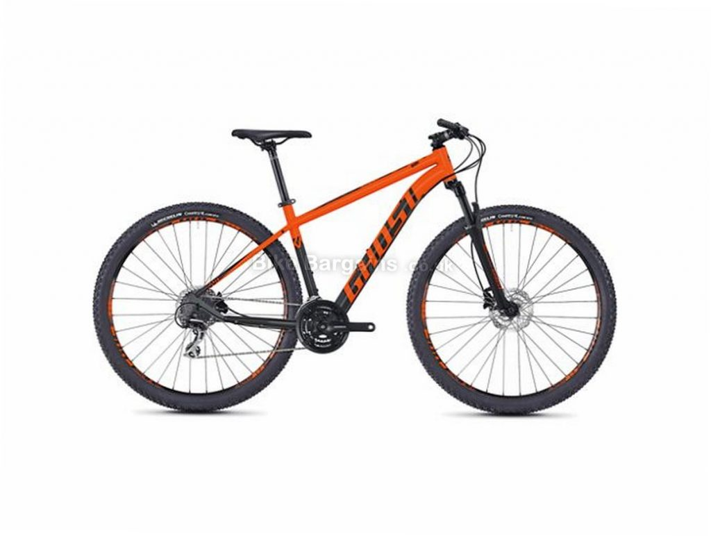 "Ghost Kato 3.9 29"" Alloy Hardtail Mountain Bike 2018 29"", 18"", Orange, Black, Yellow, 24 Speed, Alloy, 100mm"