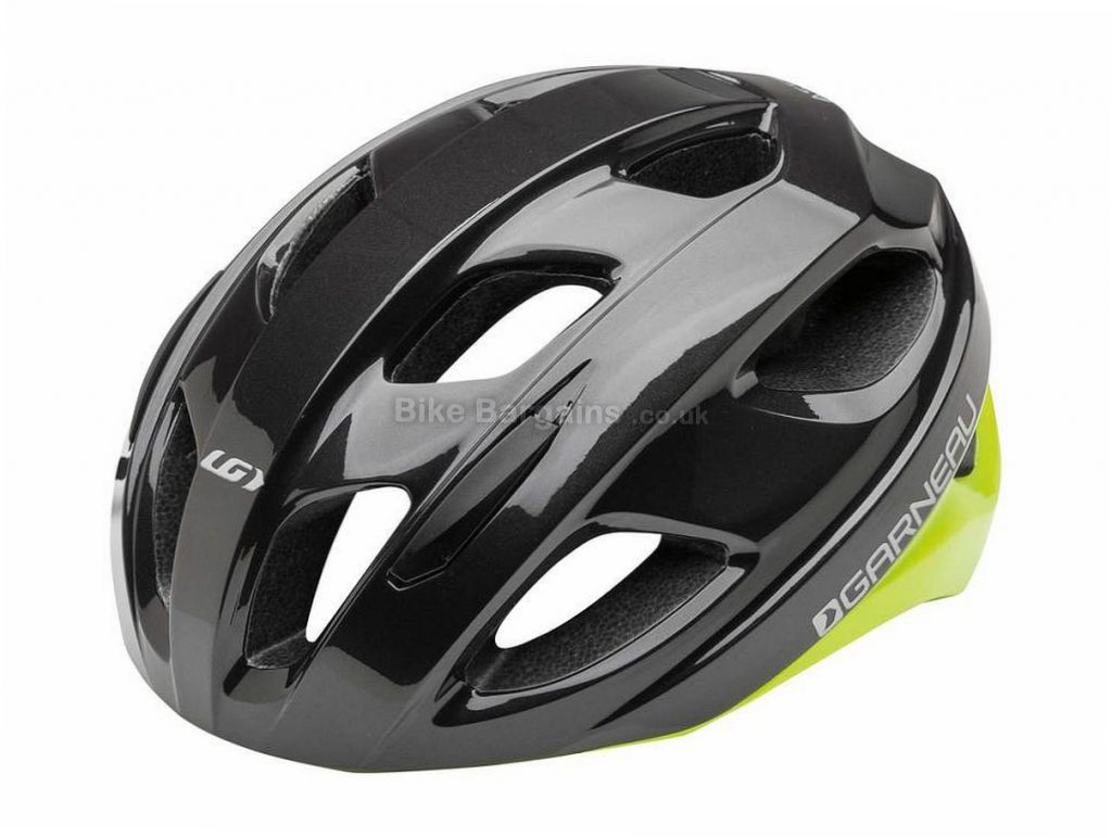 Louis Garneau Asset Road Helmet S, Black, White, 255g, 14 vents