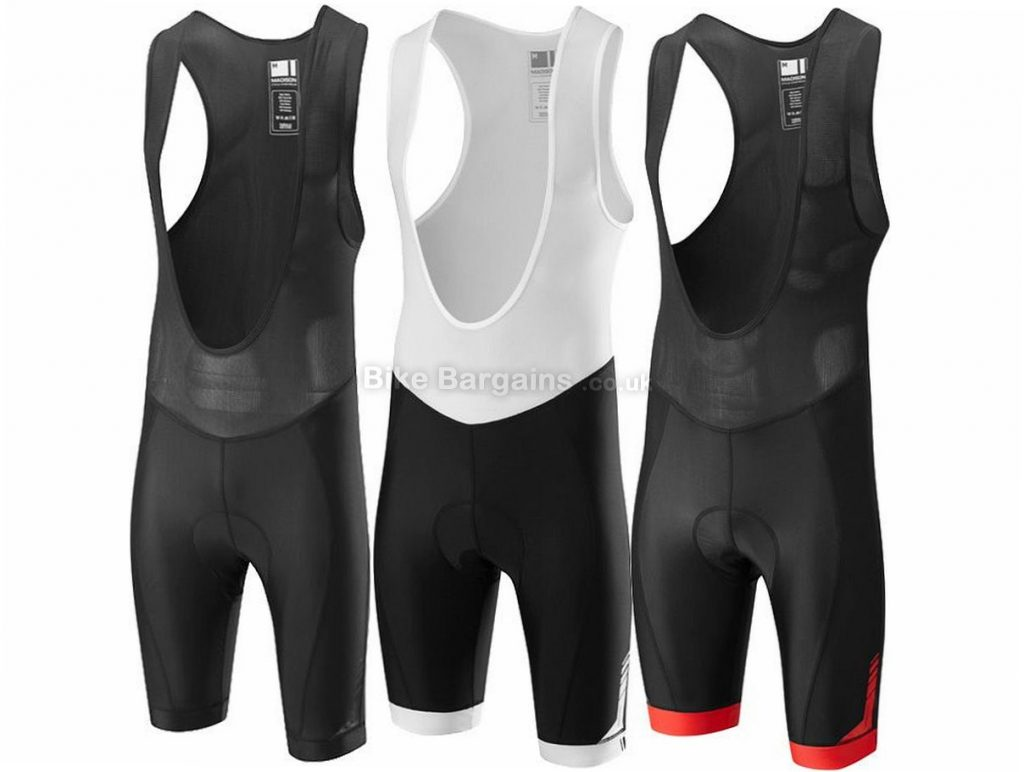 Madison Peloton Bib Shorts S, Black, Red, White