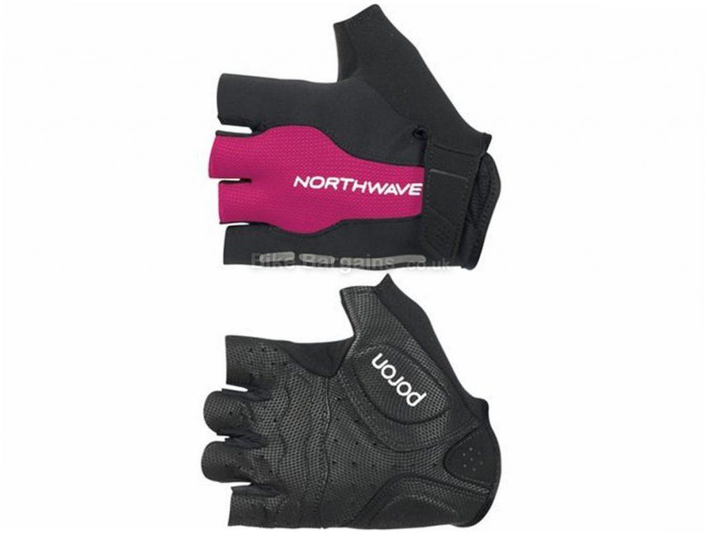 Northwave Ladies Flash Mitts S, Black, Pink, Mitts, Polyester, Velcro