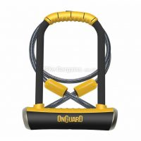 OnGuard Pitbull 230mm D Lock with 120cm Cable