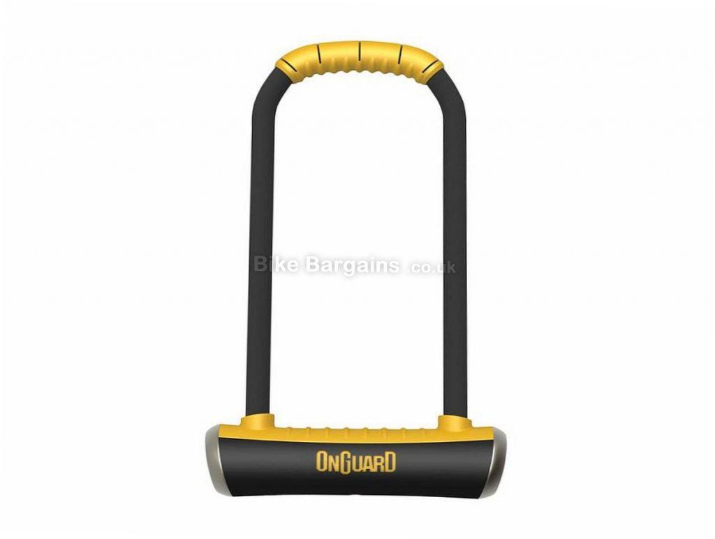 OnGuard Pitbull Long Shackle 292mm D Lock Black, Yellow, 115mm, 292mm, 14mm