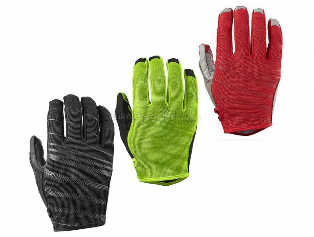 Specialized Lodown Full Finger Gloves 2017 XL,XXL, Green, Red, Full Finger, Velcro