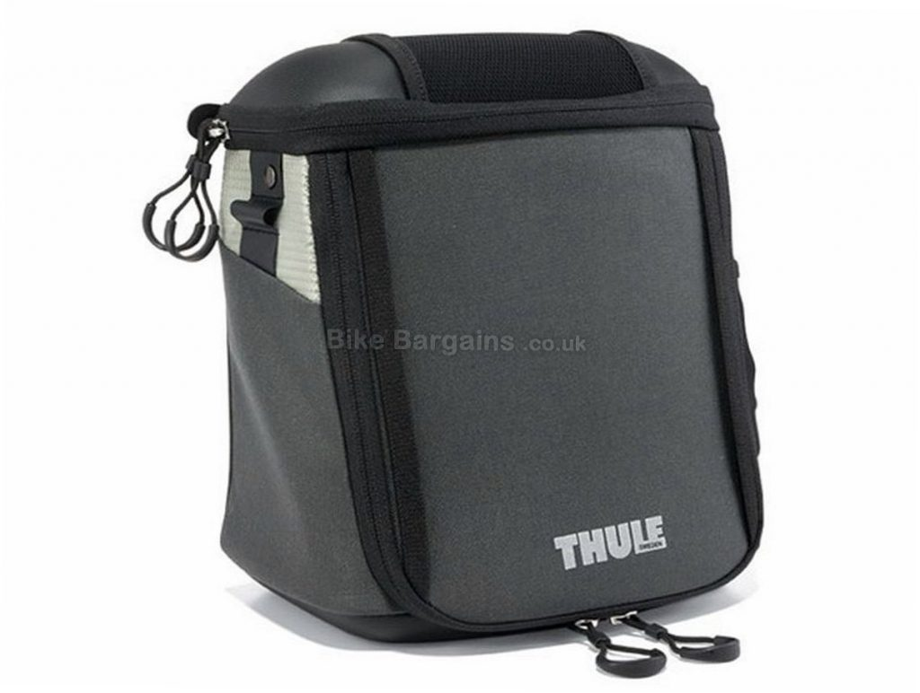 Thule Pack n Pedal Premium 6.5 Litre Handlebar Bag Black, 6.5 Litres, 660g, 3kg max load, 24x21x15cm