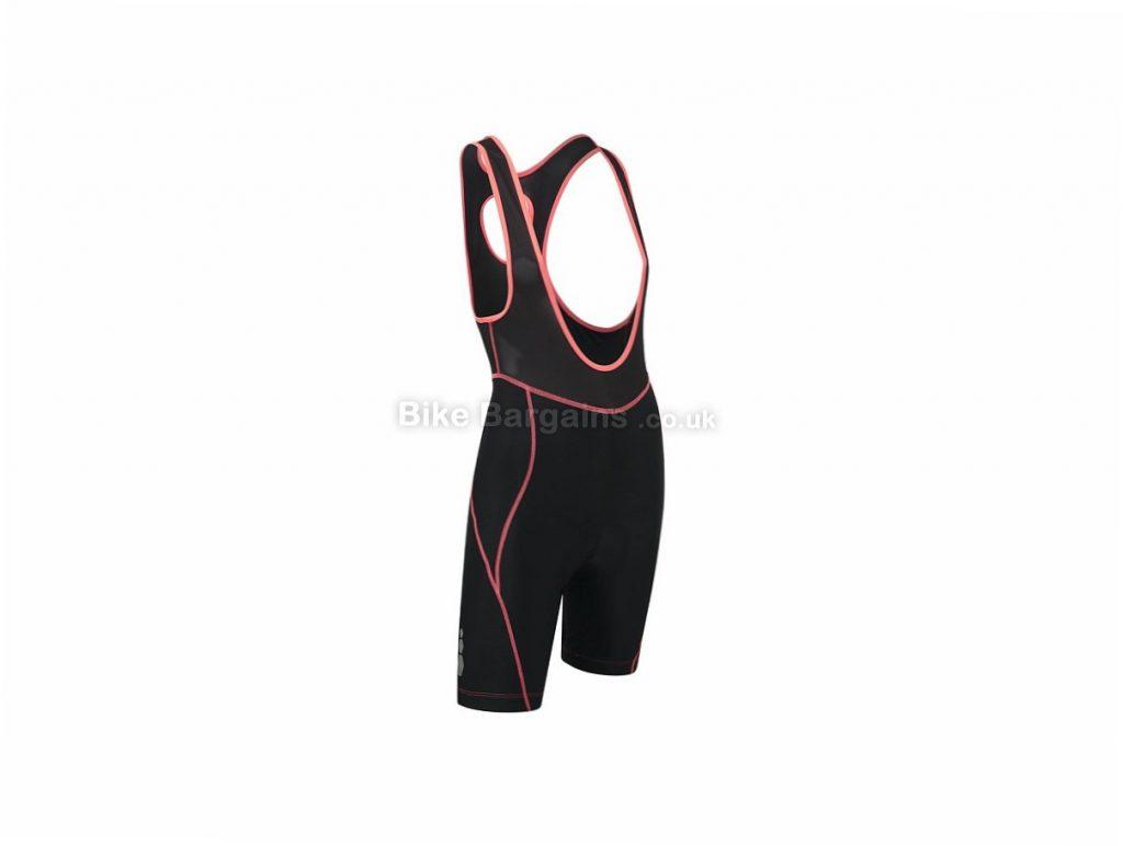 Zucci Ladies Bib Shorts 12, Black, Pink