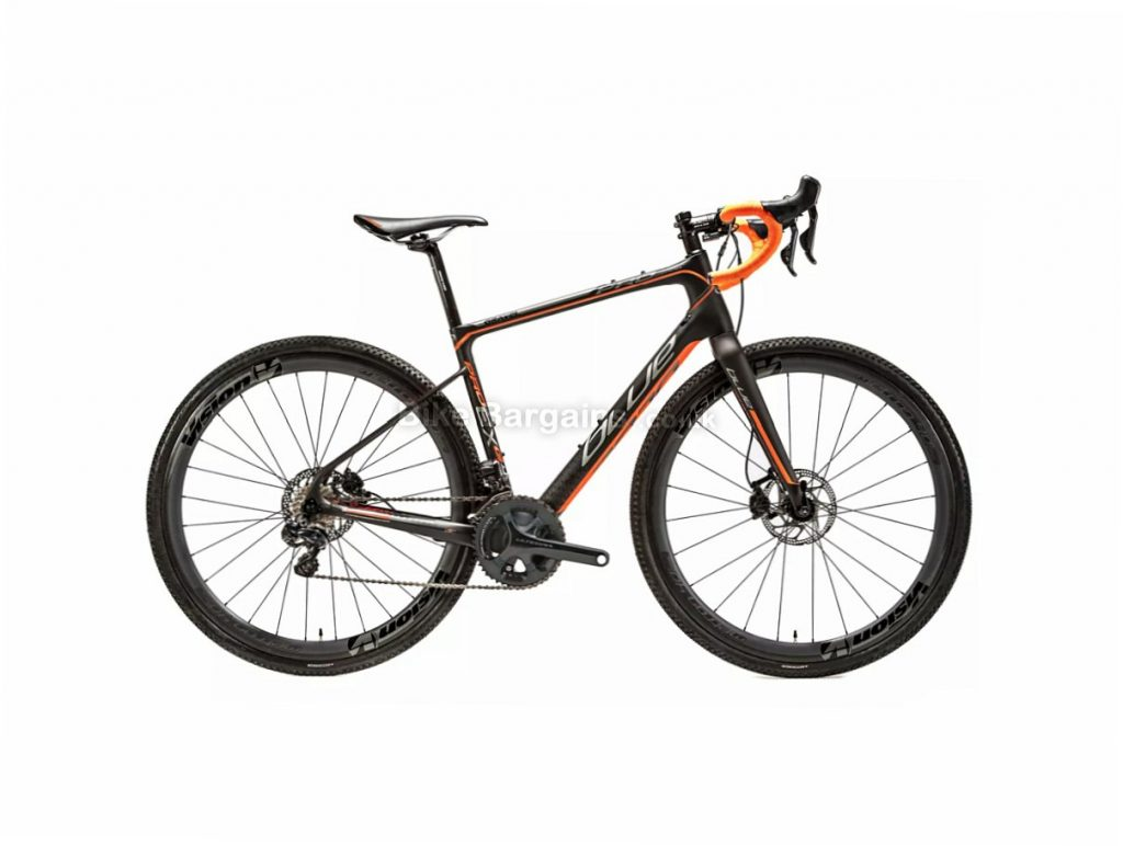 Blue Prosecco EX Gravel Ultegra Di2 Disc Carbon Gravel Cyclocross Bike 2018 49cm, 51cm, 53cm, Black, Orange - 55cm is extra, 700c, Carbon, 11 Speed