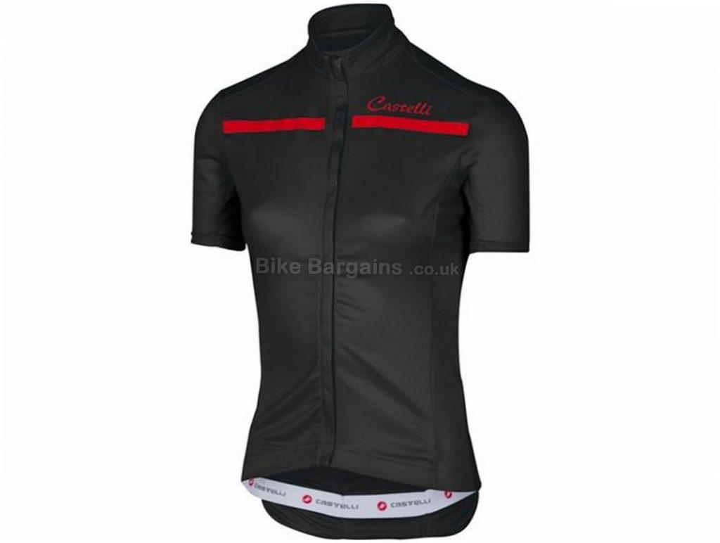 Castelli Ladies Imprevisto Short Sleeve Jersey 2017 XL, Red, Blue, 110g