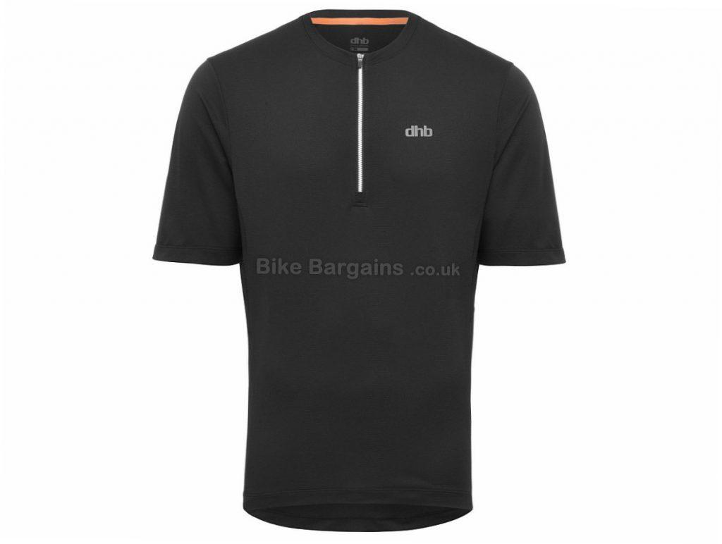 dhb Trail Half Zip Short Sleeve Jersey 2018 S,M,L,XL,XXL, Black, Blue, Red