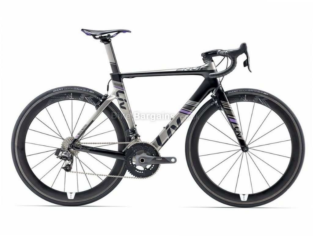 Giant Liv Envie Advanced Pro 0 Red E-Tap Ladies Carbon Road Bike 2017 S, Grey, Purple, Carbon, Calipers, 11 speed, 700c