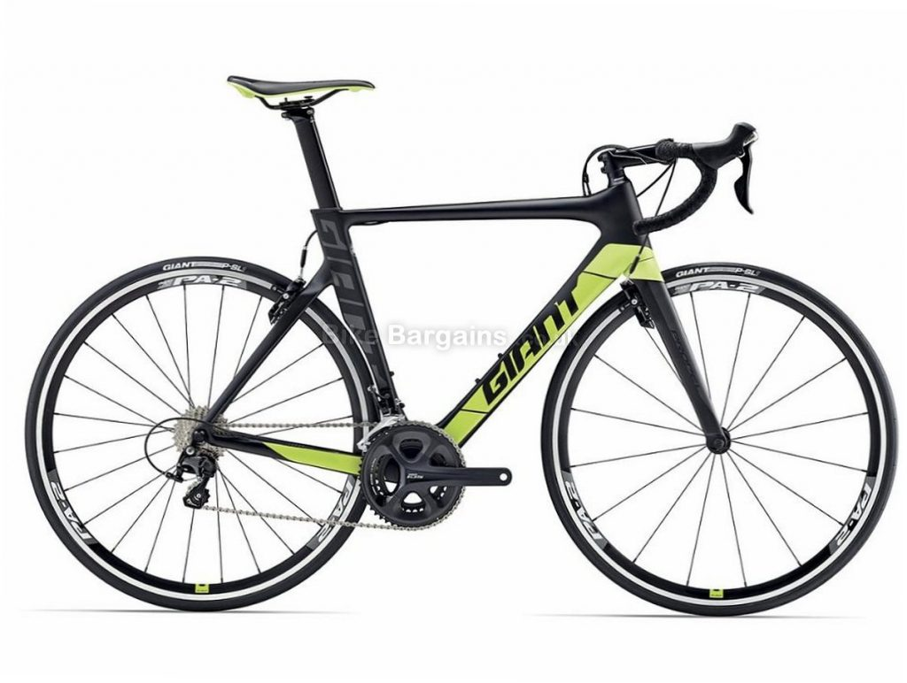 Giant Propel Advanced 2 105 Carbon Road Bike 2017 XS, Black, Green, Carbon, Calipers, 11 speed, 700c