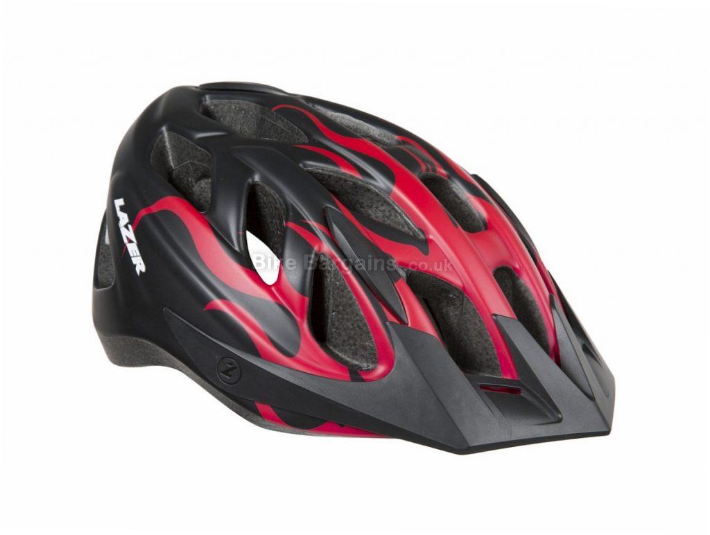 Lazer J1 Junior MTB Helmet 2018 S, Black, Red, 19 vents