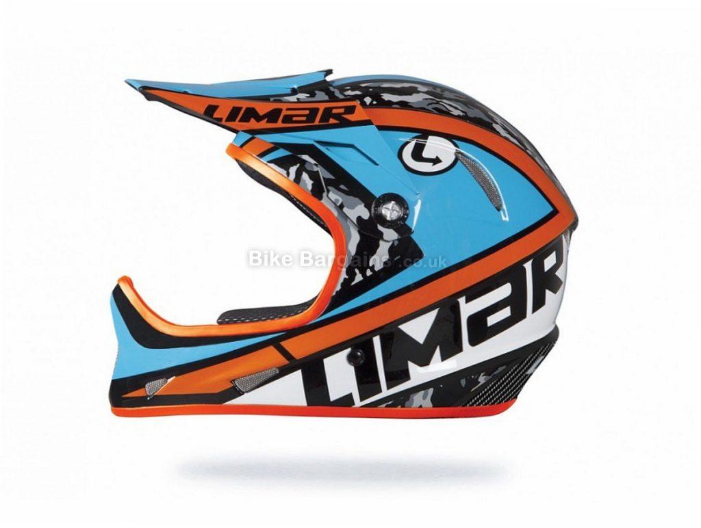 Limar DH5 Carbon Full Face Downhill MTB Helmet S, Blue, Orange, 900g, 11 vents