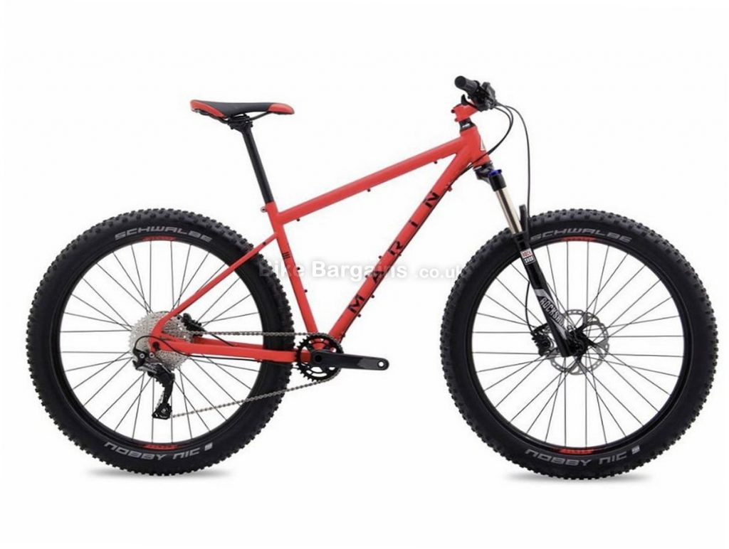 "Marin Pine Mountain 1 Plus 27.5"" Deore Steel Hardtail Mountain Bike 2017 M, Red, 27.5"", Steel, 11 Speed"