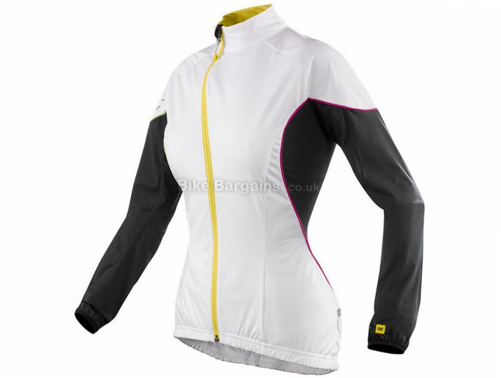 Mavic Bellissima Ladies Windproof Jacket 8,14, Black, White, Women's, Long Sleeve