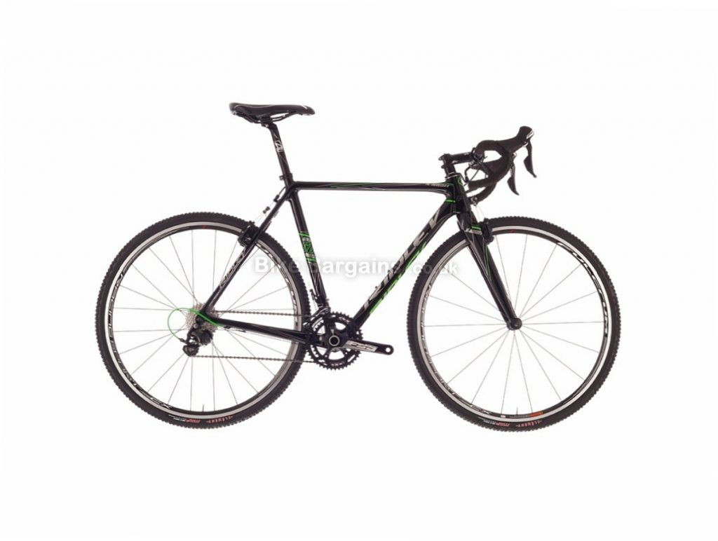 Ridley X Night 105 Carbon Cyclocross Bike 2017 52cm, Black, Green, 700c, Carbon, 11 Speed