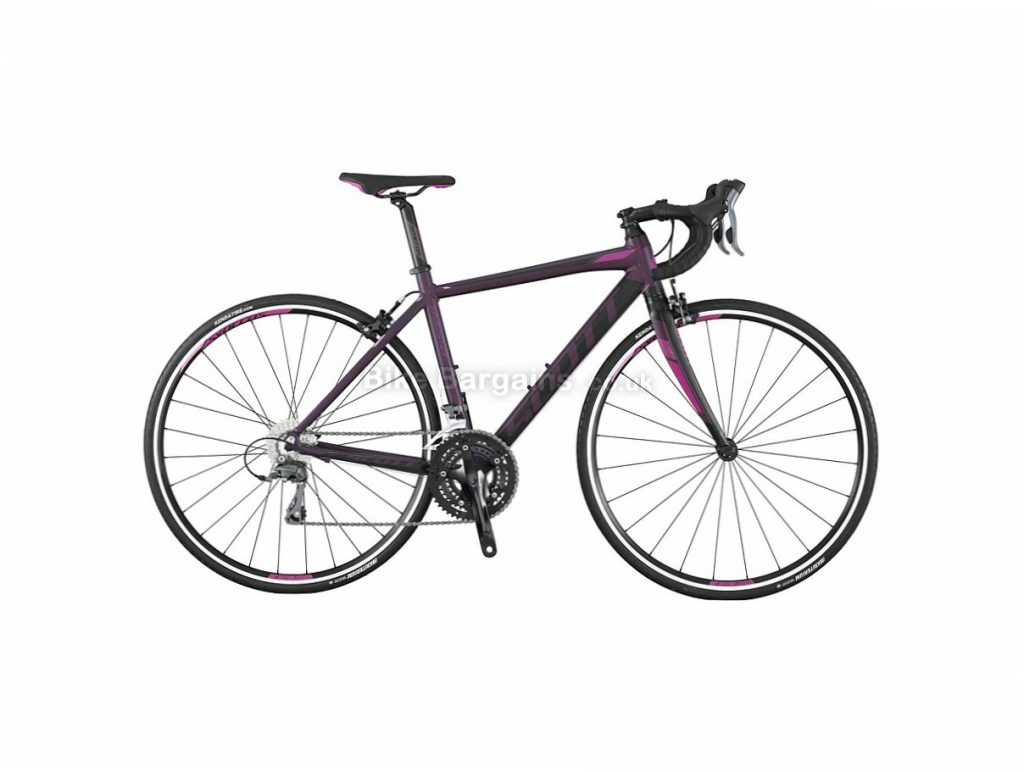 Scott Contessa Speedster 45 Claris Ladies Alloy Road Bike 2017 46cm, Black, Purple, Alloy, Calipers, 8 speed, 700c, 10kg