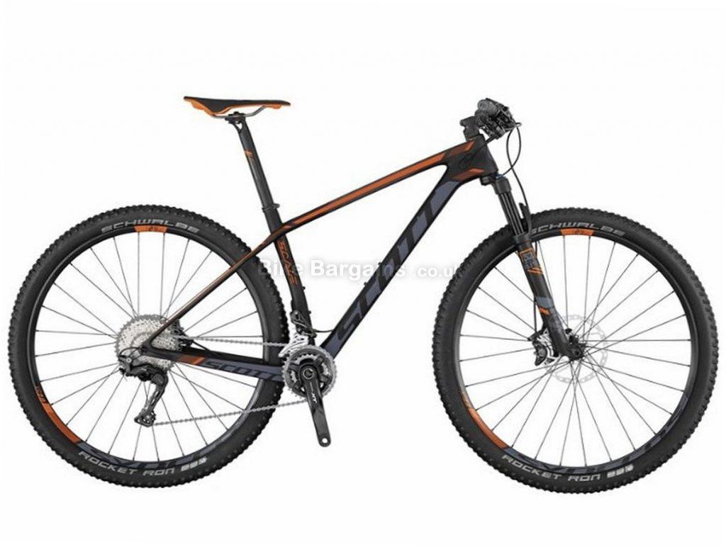 """Scott Scale 710 27.5"""" XT Carbon Hardtail Mountain Bike 2017 M,L, Black, Orange, 27.5"""", Carbon, 11 Speed, 10.1kg"""