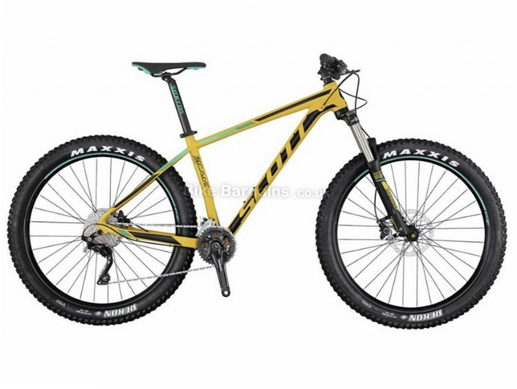 "Scott Scale 730+ 27.5"" Deore Alloy Hardtail Mountain Bike 2017 M, Yellow, Black, Green, 27.5"", Alloy, 10 Speed, 13kg"