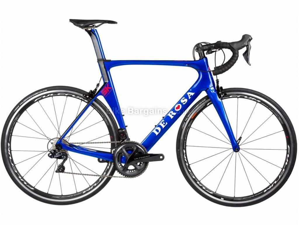 De Rosa SK Ultegra Di2 Carbon Road Bike 2018 50cm, Black, Blue, Carbon, Calipers, 11 speed, 700c