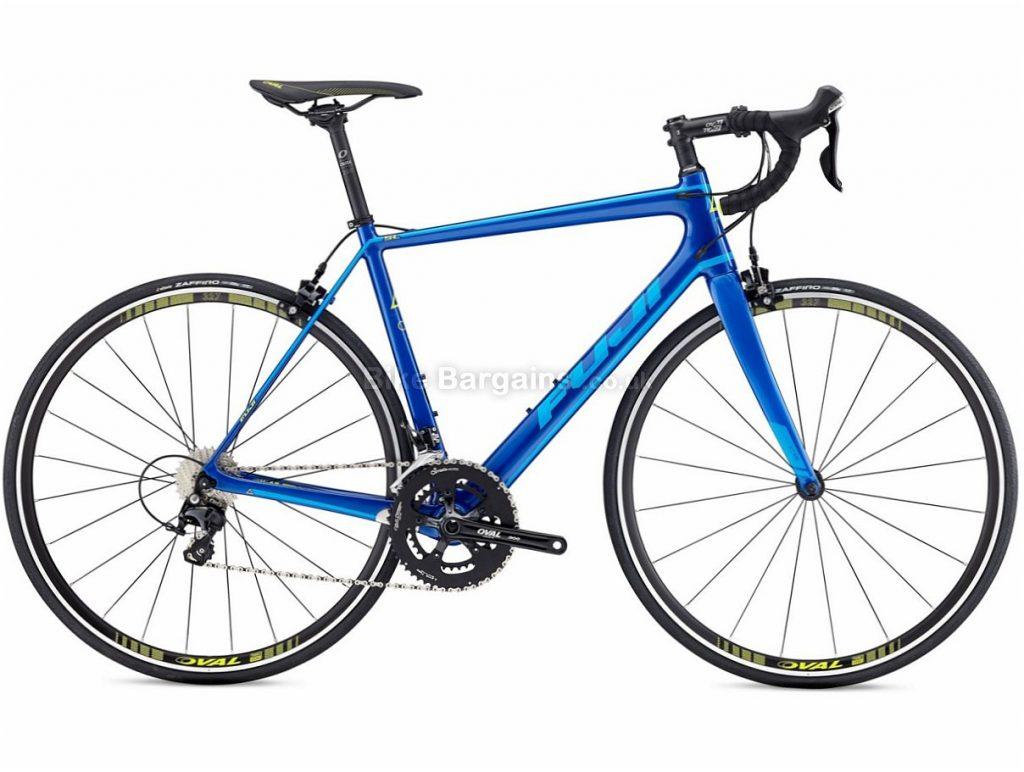 Fuji SL 3.3 105 Carbon Road Bike 2018 46cm - 52cm, 54cm, 56cm, 58cm, 61cm are extra -  Blue, Carbon, Calipers, 11 speed, 700c, 8.6kg