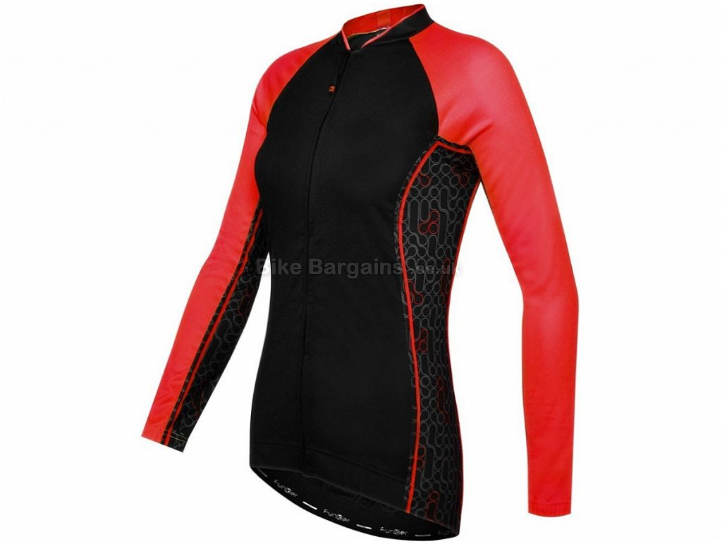 Funkier Atheni Ladies Long Sleeve Jersey 2016 XS,S,M,L, Black, Red, Yellow