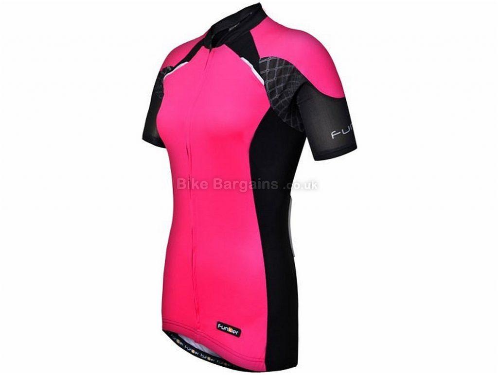 Funkier Odessa Ladies Pro Short Sleeve Jersey 2016 XS, Pink, Black
