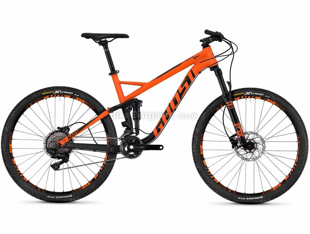 "Ghost Kato 5.7 XT 27.5"" Alloy Full Suspension Mountain Bike 2018 18"", Orange, 27.5"", Alloy, 22 speed"