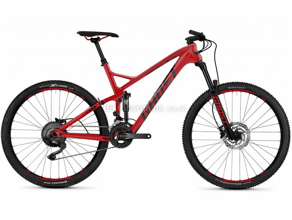 """Ghost Slamr 3.7 Deore 27.5"""" Carbon Full Suspension Mountain Bike 2018 20"""", Red, Black, 27.5"""", Carbon, 20 speed"""